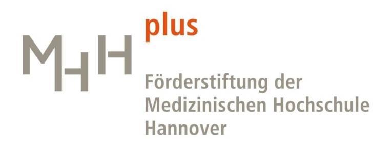 Logo mit der Schrift MHH plus Förderstiftung der Medizinischen Hochschule Hannover