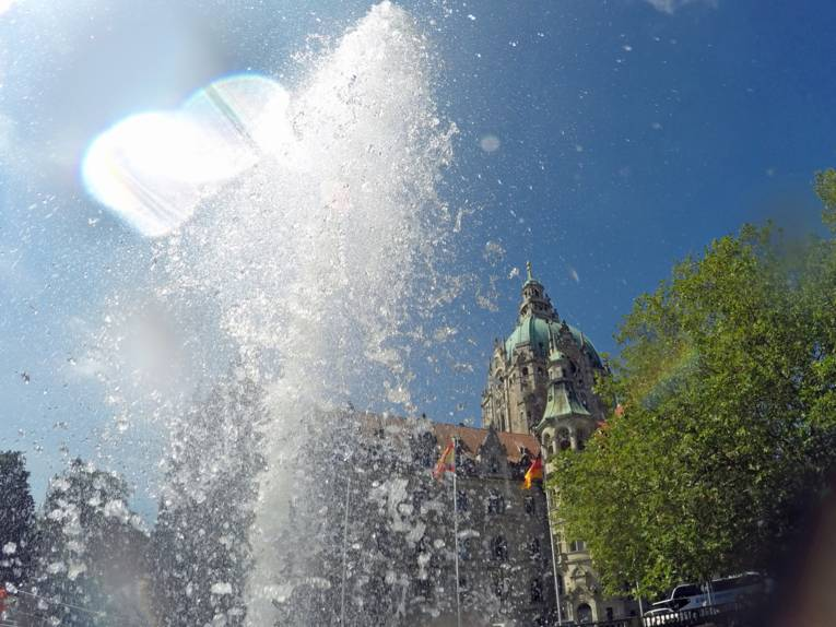 Brunnen mit Fontänen