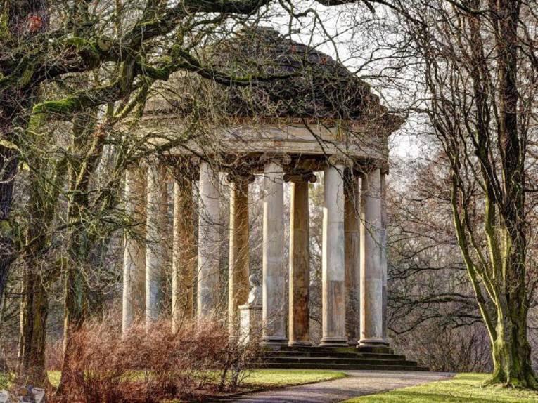 Tempel im Garten.
