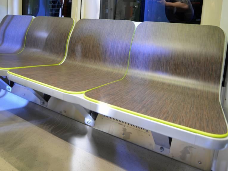 Sitze in Stadtbahn
