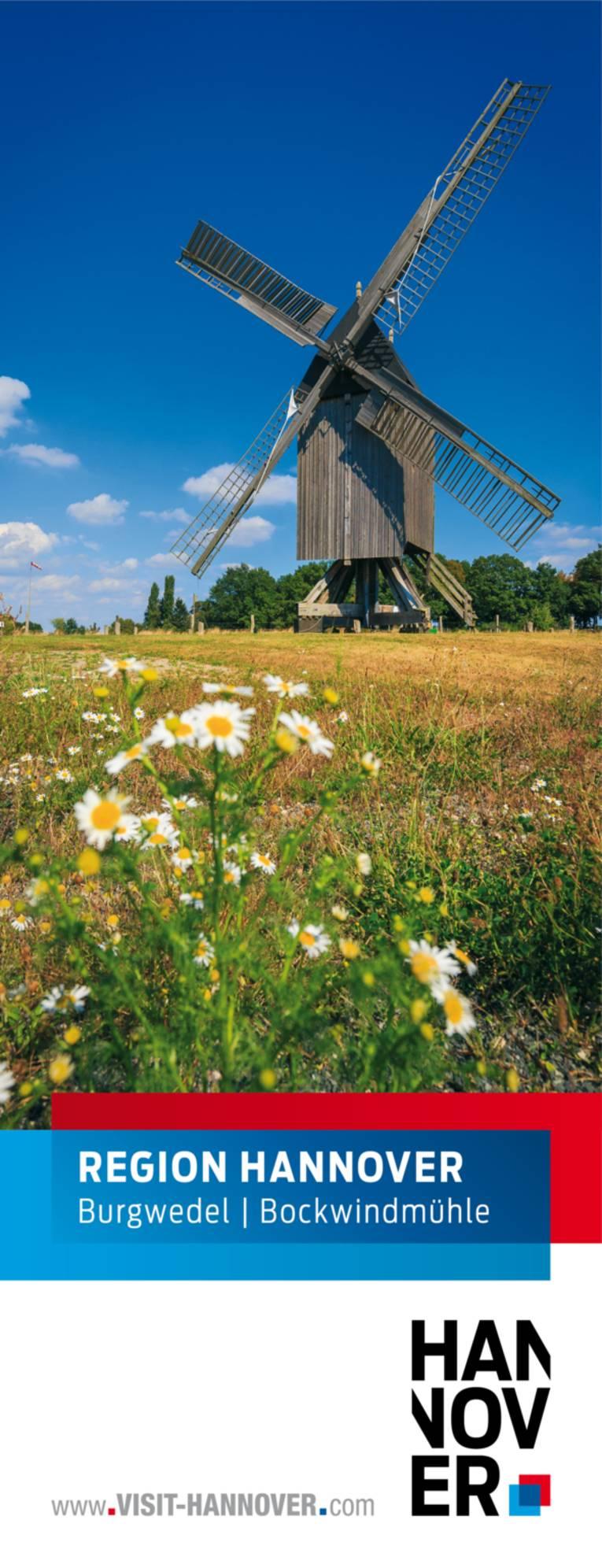 Burgwedel präsentiert sich mit einem Motiv der Bockwindmühle.