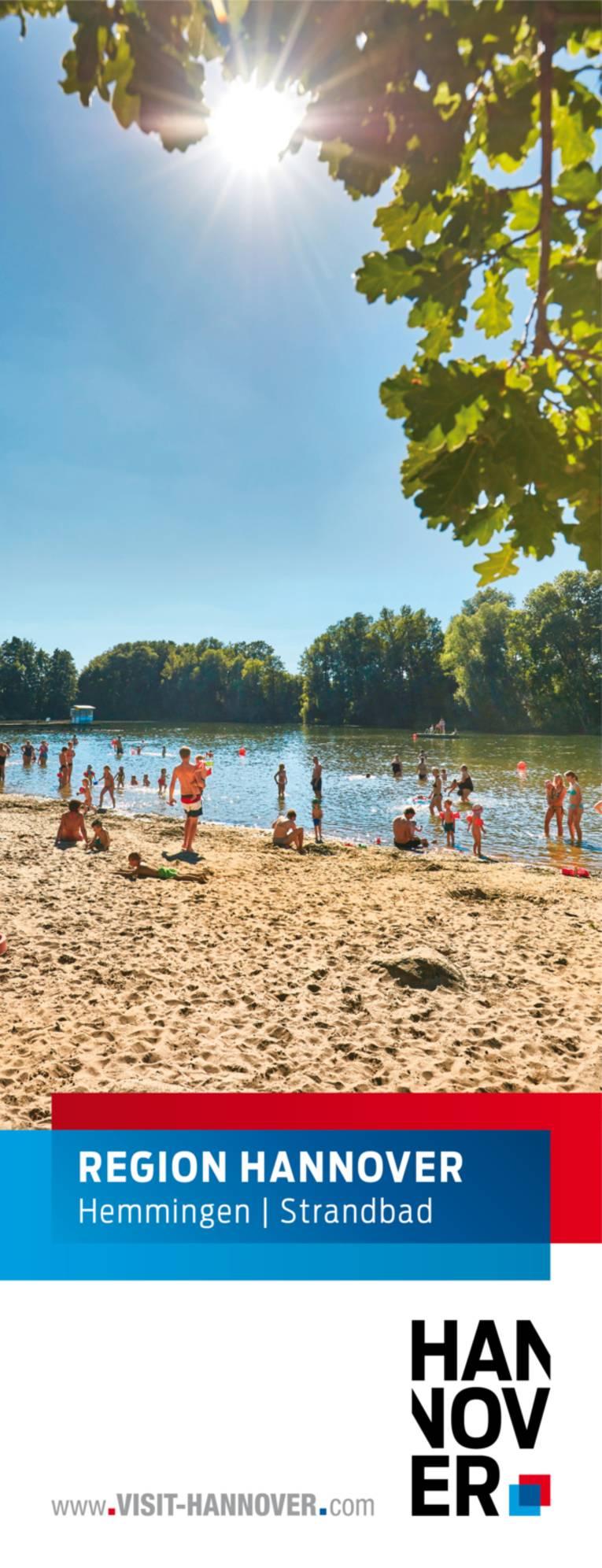 Hemmingen präsentiert sich mit einem Motiv des Strandbades.