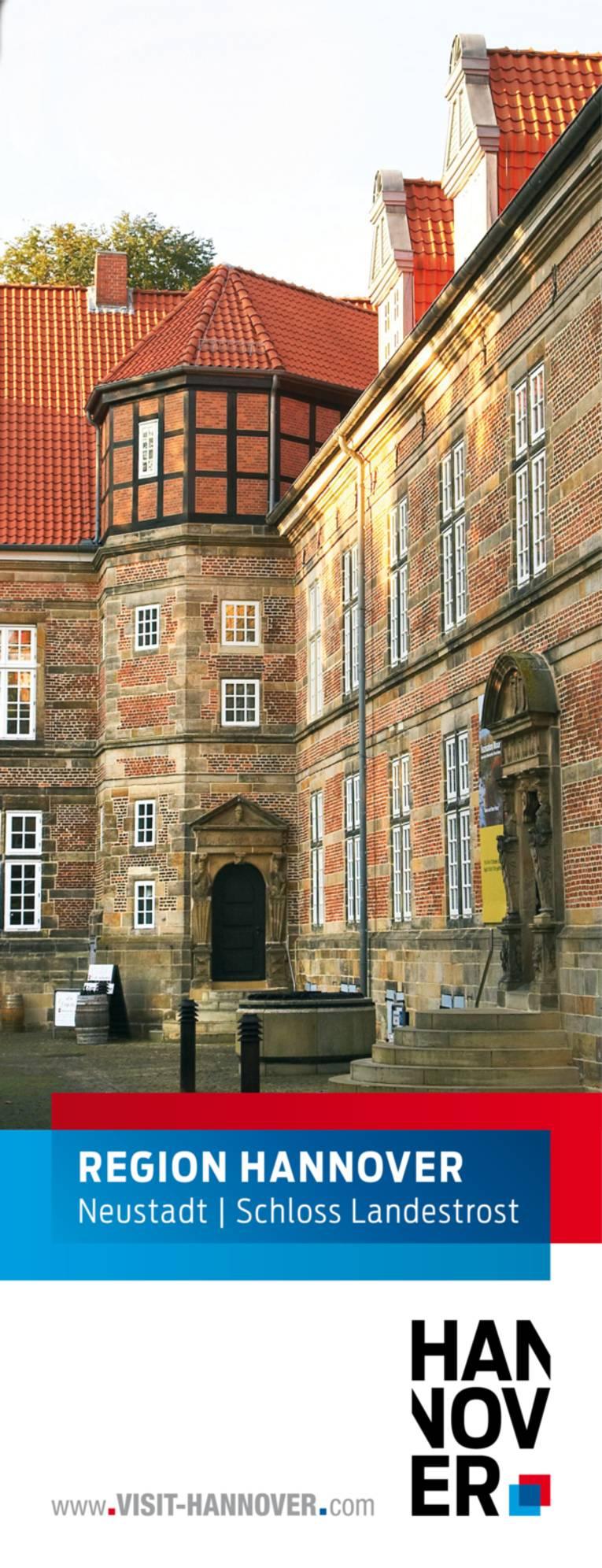 Neustadt am Rübenberge präsentiert sich mit einem Motiv des Schloss Landestrost.