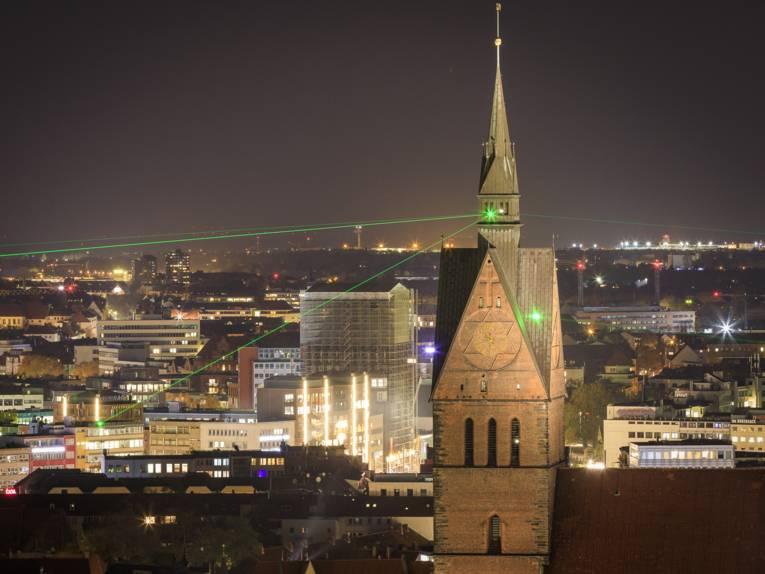 Marktkirche / LaserLightFaden