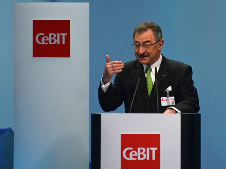 Eröffnung der CeBIT.