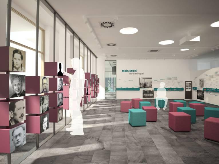 Visualierung eines Foyers.
