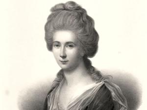 Charlotte Kestner, geb. Buff (1753-1828) nach dem Pastell von Joh. H. Schöder, Lithografie von Julius Giere, um 1850