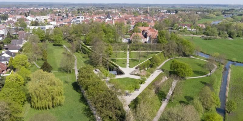 Luftbild von einem Park