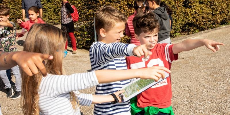 Unterwegs mit der Schulklasse im Großen Garten