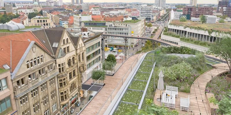 Karstadt-Dach (Visualisierung)