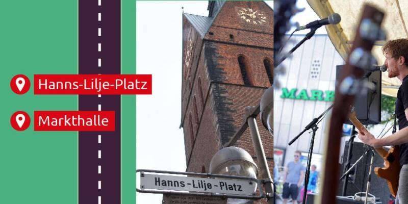 Der Hanns-Lilje-Platz liegt gegenüber der Marktkirche in der Altstadt.