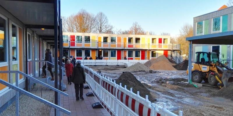 Die neue Unterkunft in der Steigertahlstraße wird rund 100 Flüchtlingen eine neue Heimat bieten.