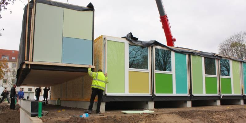 Errichtung einer Modulanlagen in Holzbauweise für die Unterbringung von Flüchtlingen