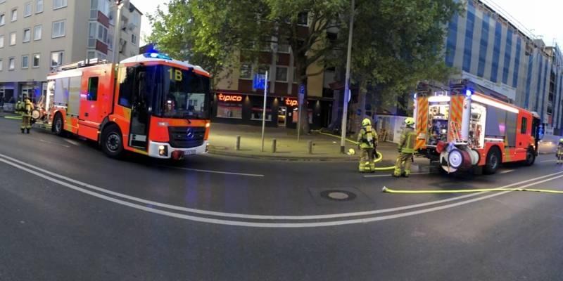 Eine Wohnung brennt in Hannover Mitte