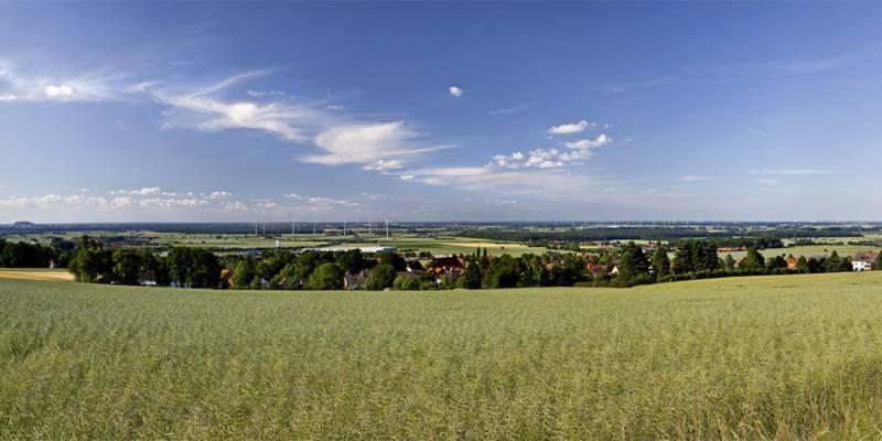 Panoramafoto von Bantorf - Region Hannover