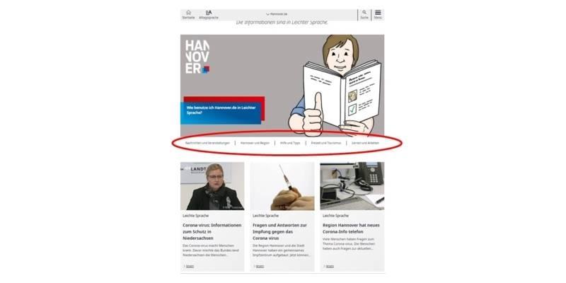 Themenwelten im Leichte-Sprache-Portal