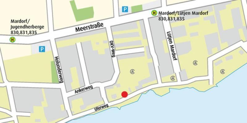 Karte mit Lage des Naturparkhauses