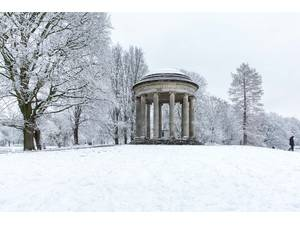 Leibniztempel im Winter