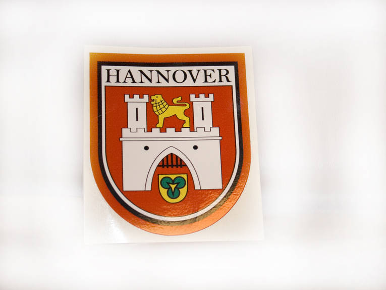 Aufkleber wappen for Souvenir shop hannover