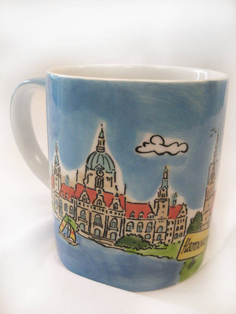 Tasse neues rathaus for Hannover souvenirs