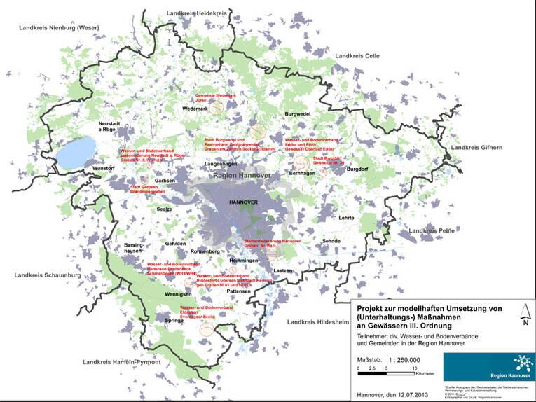 Karte Mit Gewasserorten 1 10 000 Gewasserschutz Umwelt
