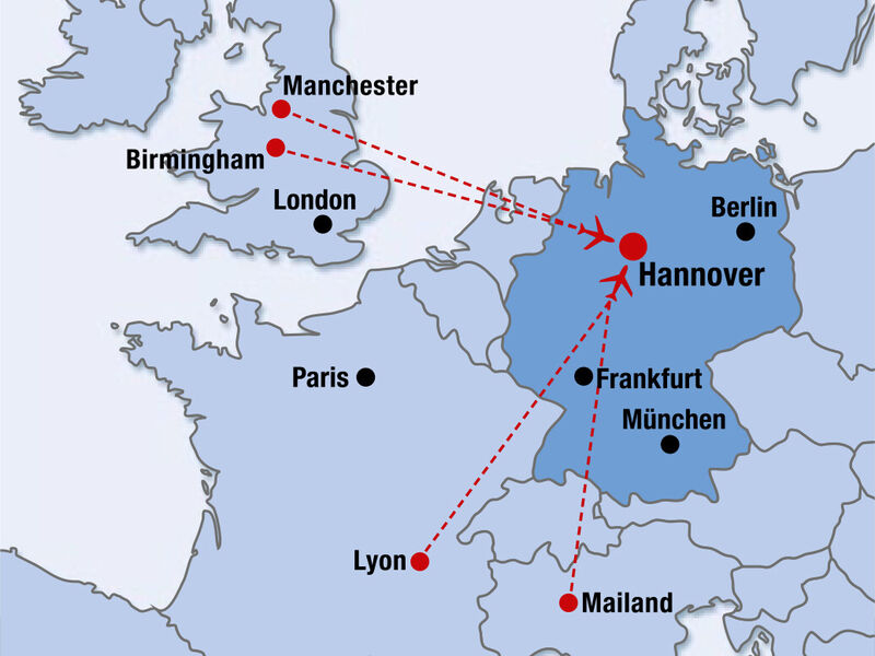 Routes served by flybe