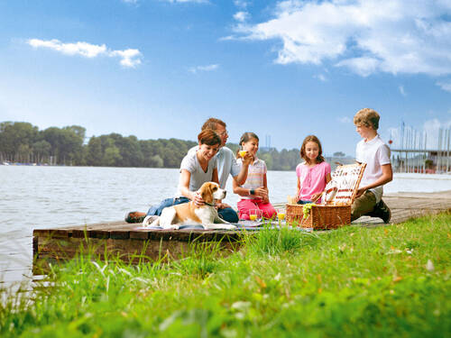 Familie am Maschsee