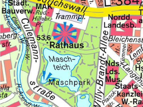 City map Hannover
