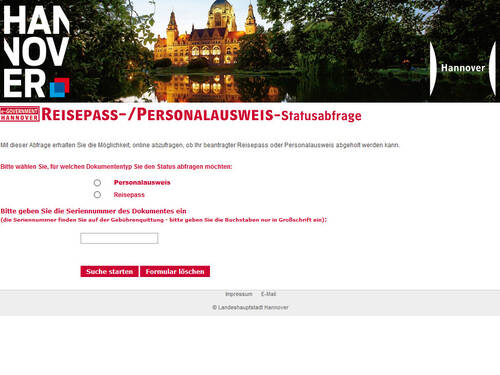 Personalausweis Hannover
