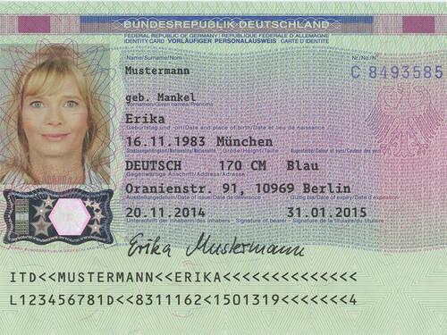 Personalausweis Angaben