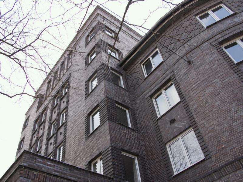 Rotes Backsteinhaus in der Südstadt.