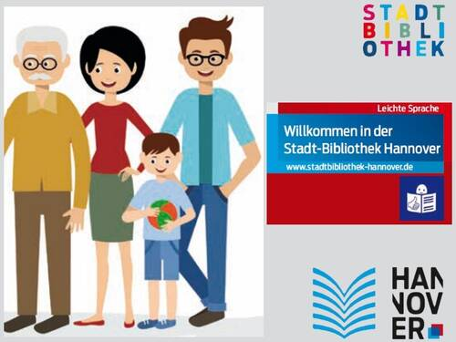 Bibliotheksflyer in leichter Sprache