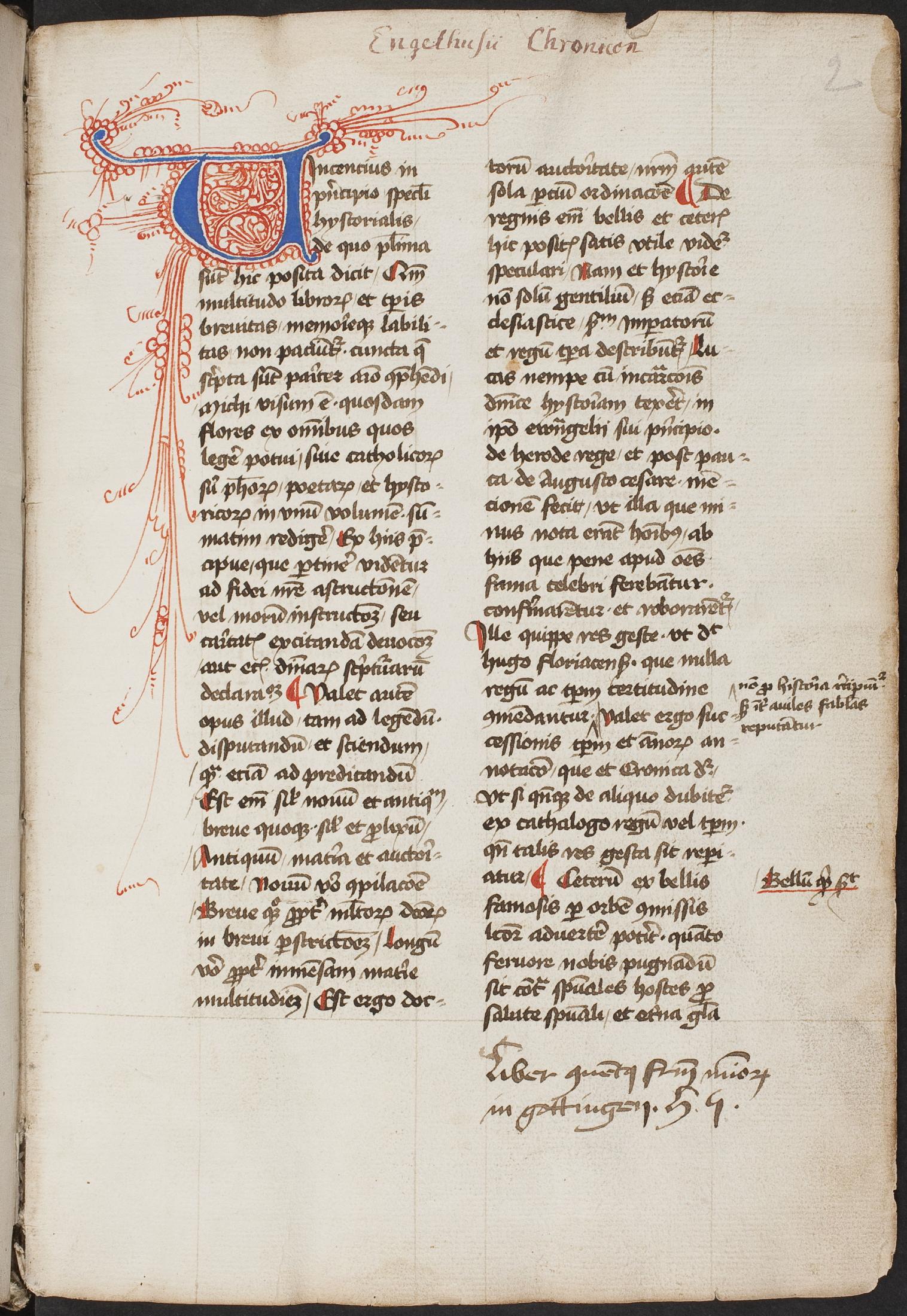 Handschrift: Ms. Mag. 147, fol. 2r