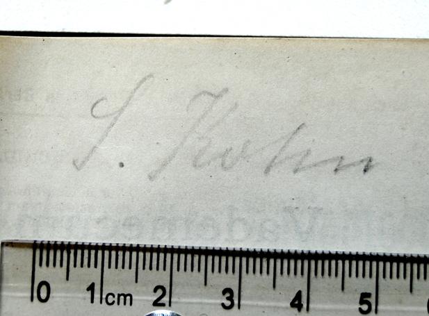 Autogramm Dr. Sigmund Kohn