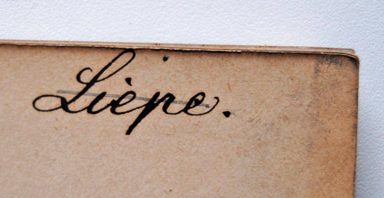 "Autogramm ""Liepe."""