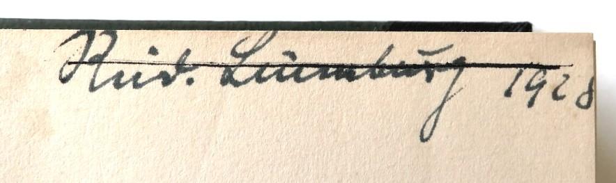 Autogramm Rudolf Lüneburg, 1928