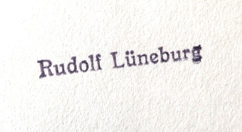 Stempel von Rudolf Lüneburg