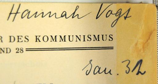 Autogramm von Hannah Vogt