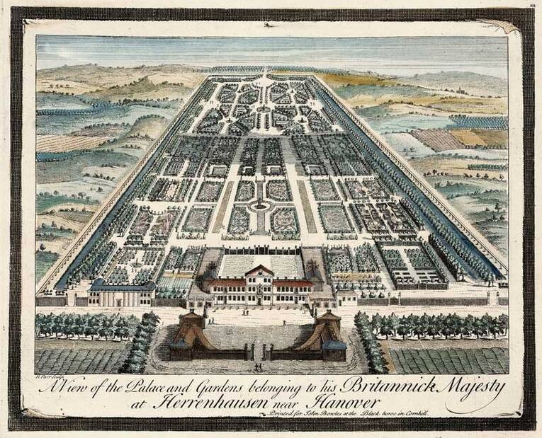 schloss und garten 1745 museum schloss herrenhausen herrenhausen bilder landeshauptstadt. Black Bedroom Furniture Sets. Home Design Ideas