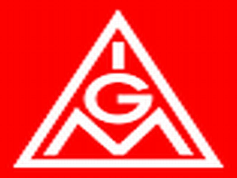 Rotes Logo - Dreieck mit den untereinanderstehenden Buchstaben IGM