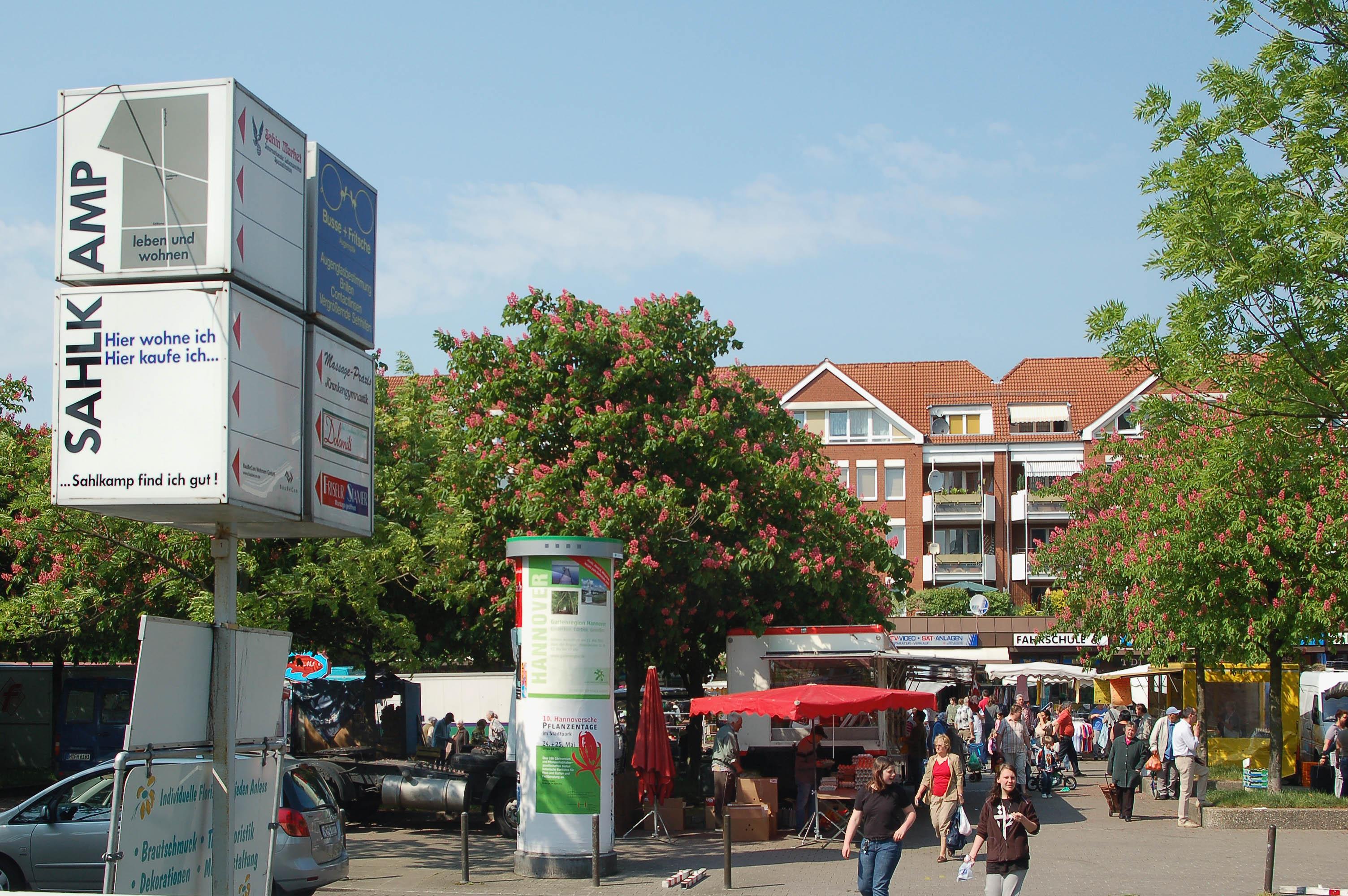 Blick auf den Sahlkampmarkt