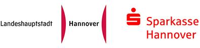 Das Logo der Landeshauptstadt Hannover und das Logo der Sparkasse Hannover