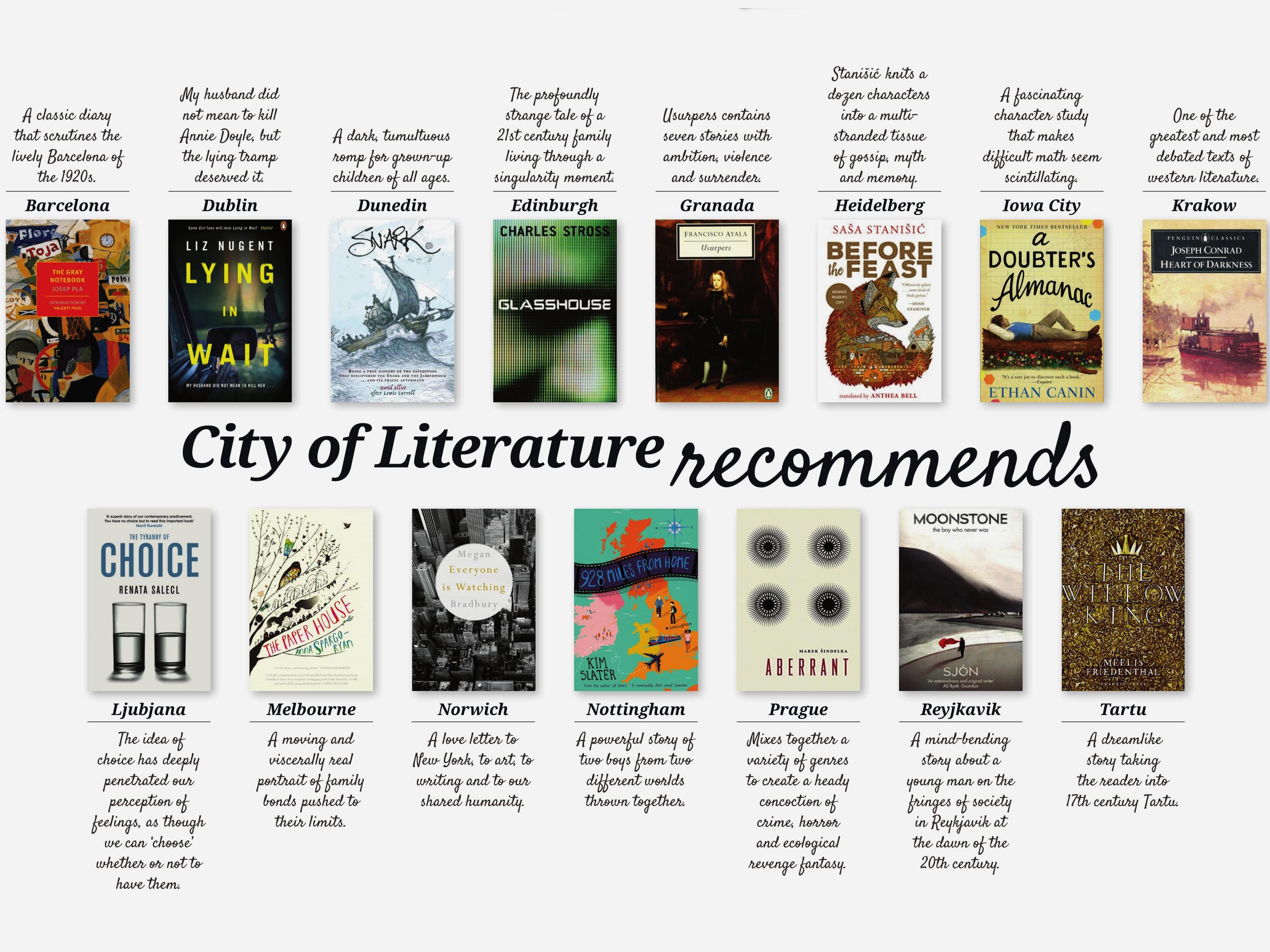 Buchempfehlungen der UNESCO Creative Cities of Literature