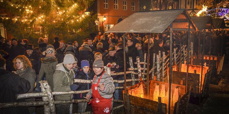Hannover Weihnachtsmarkt.Das Finnische Weihnachtsdorf Weihnachtsmarkt Hannover