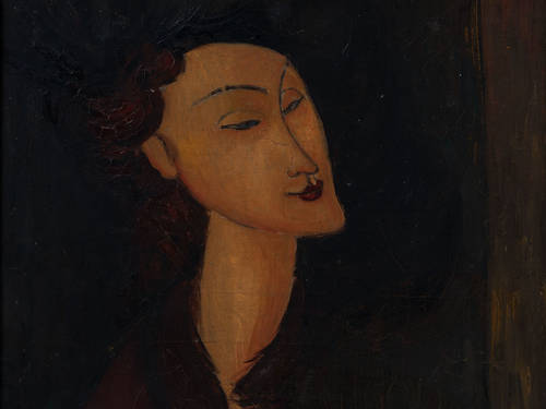 Painting showing a woman's head.