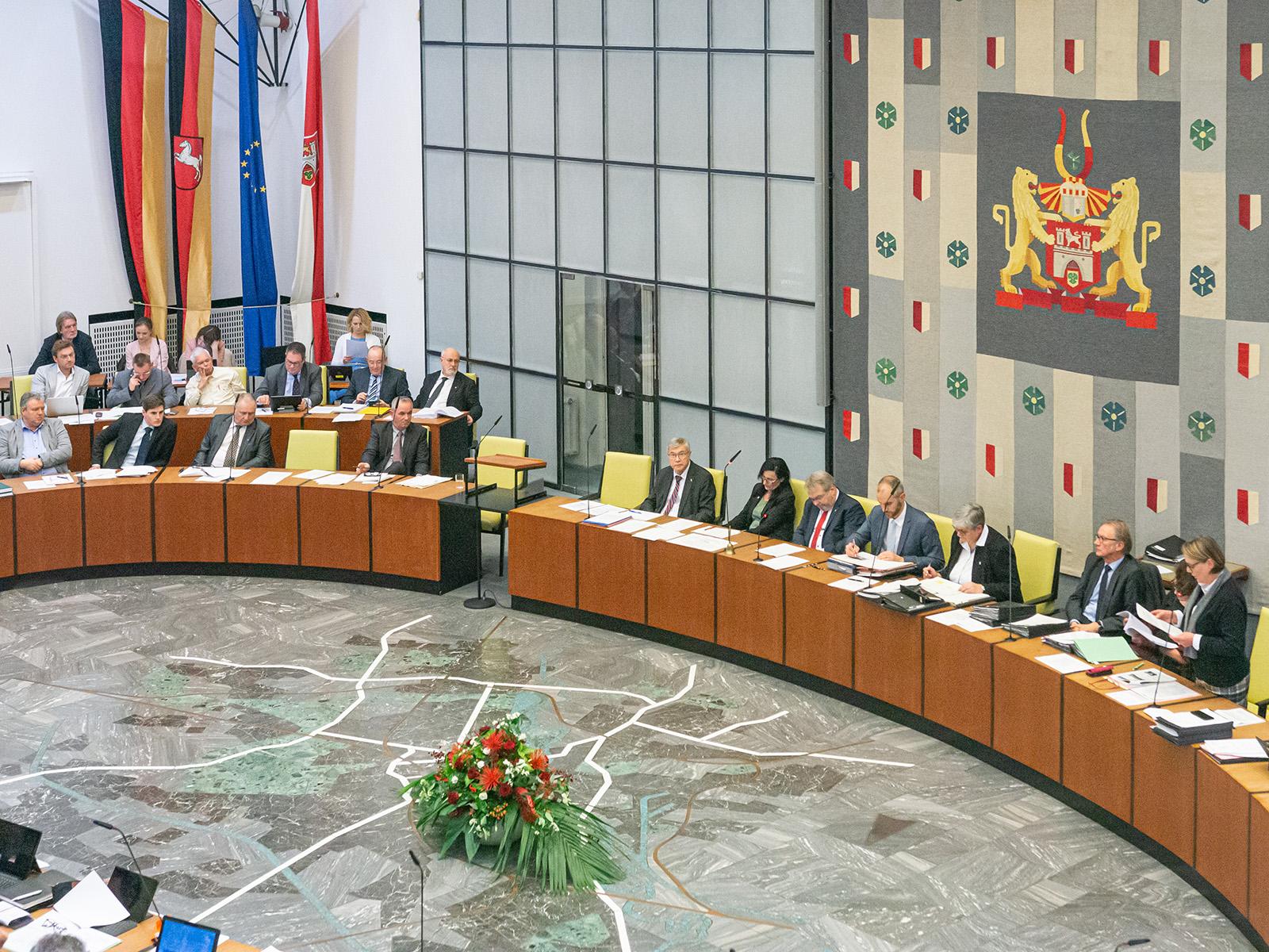 Blick in die Ratssitzung am 28. November 2019