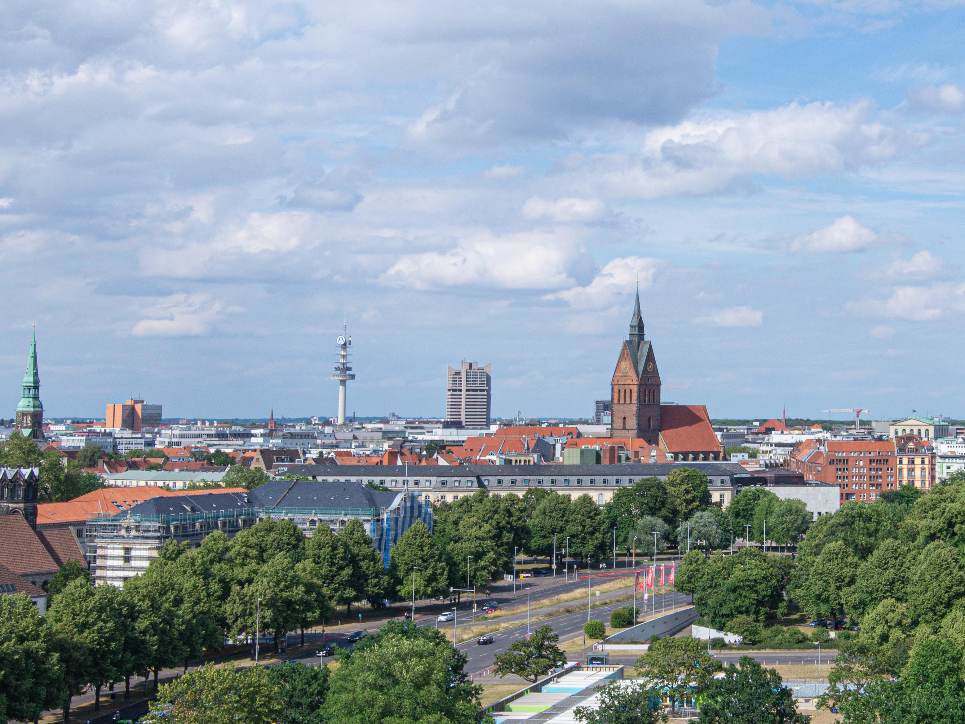 Blick auf Hannover