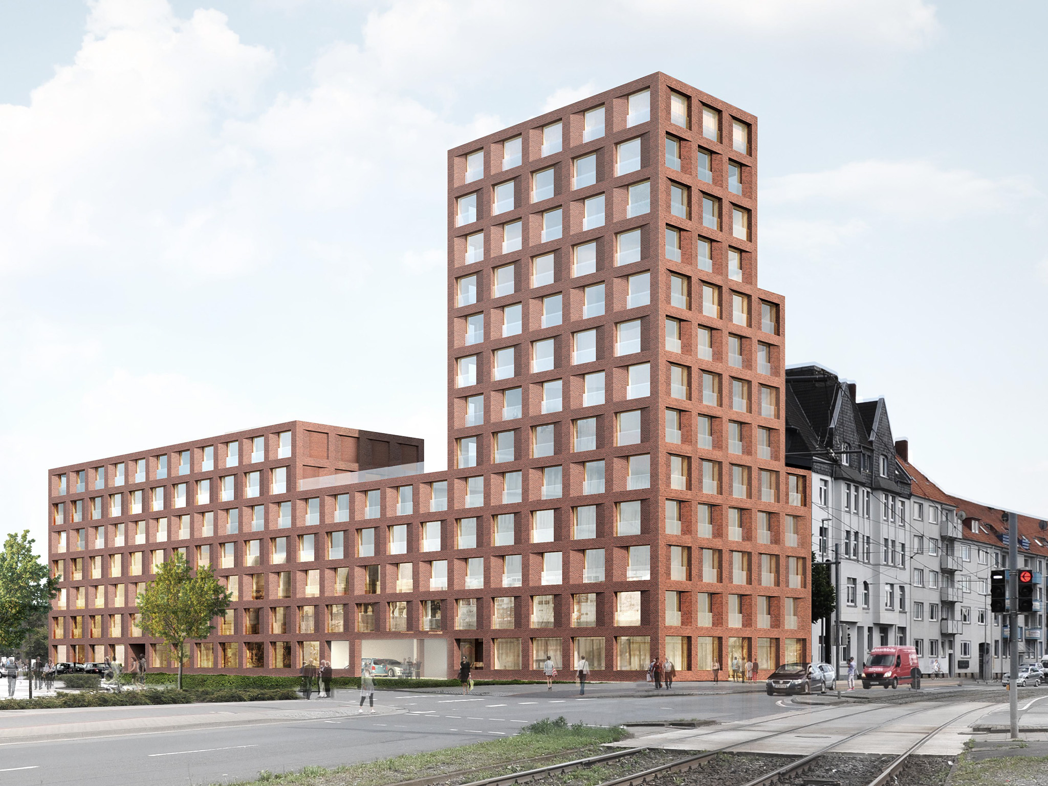 Animation eines Gebäudes