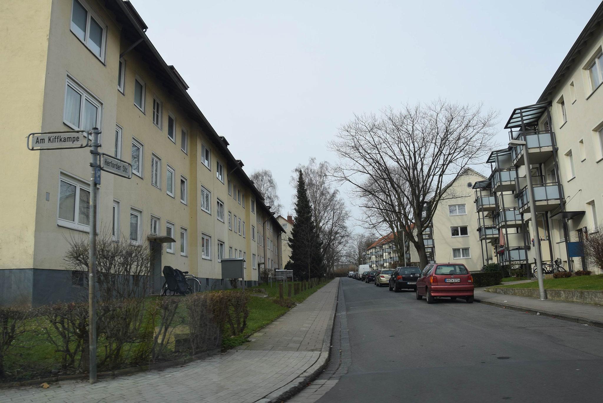 Wohnhäuser in der Herforder Straße
