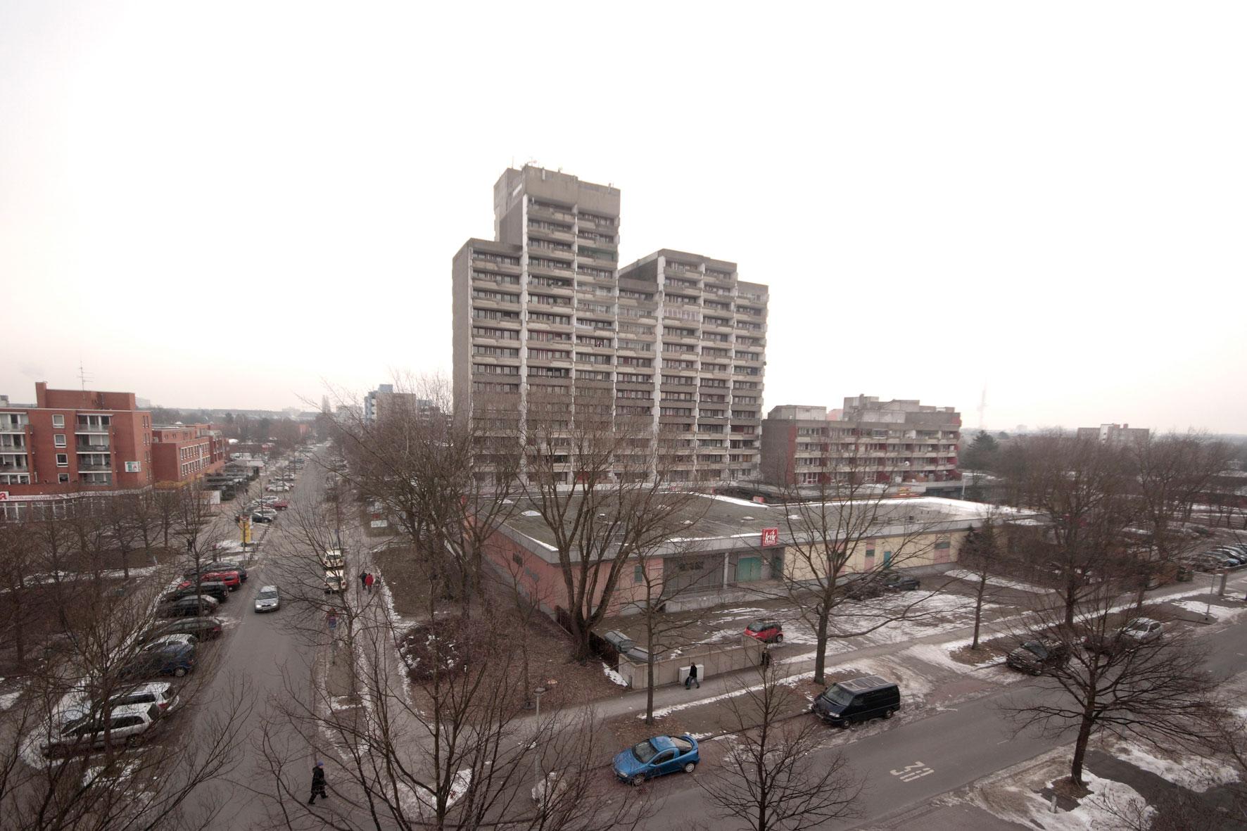 Hochhaus-Komplex aus den 70er-Jahren